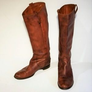 Madewell Tan Leather Riding Boots